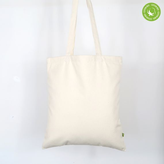 blank organic tote bag