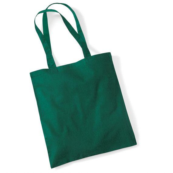 bottle green tote bag