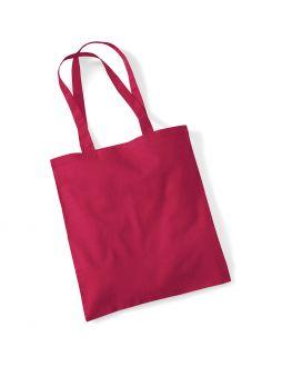 red custom tote bag