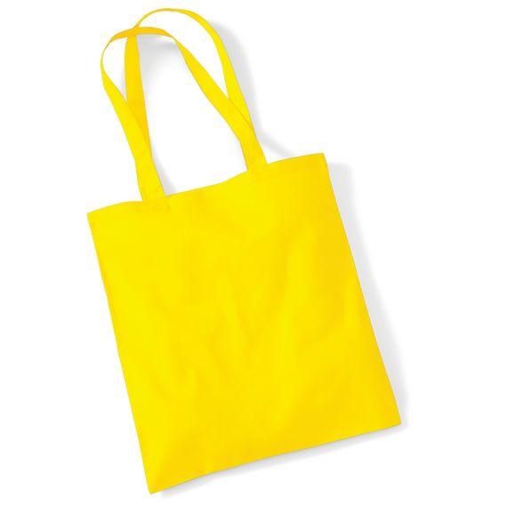 yellow custom tote bag