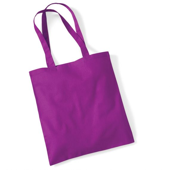 Purple customizable tote bag