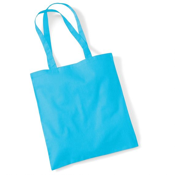 blue personalized tote bag