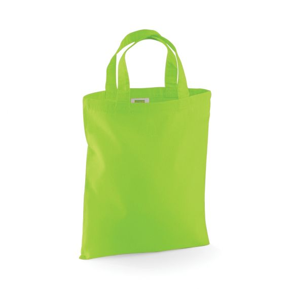 green custom small tote bag