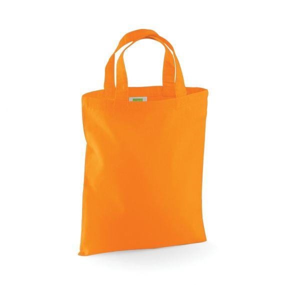 orange little tote bag to personalize