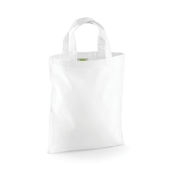 white custom small tote bag