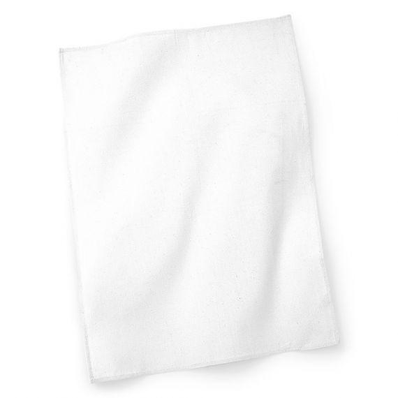 white custom tea towel