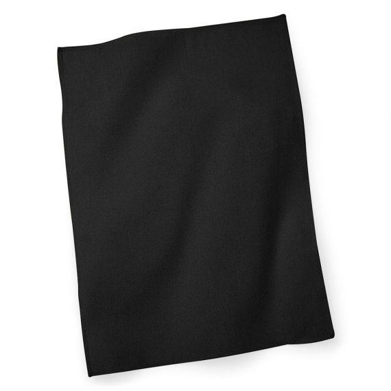 black custom tea towel