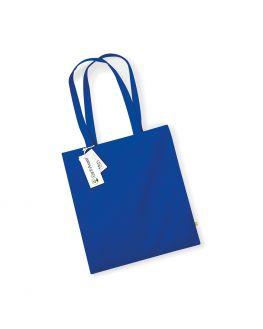 royal blue custom organic tote bag