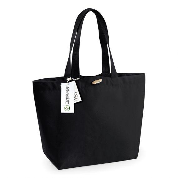 black personalized beach bag