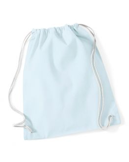 light blue custom gym bag