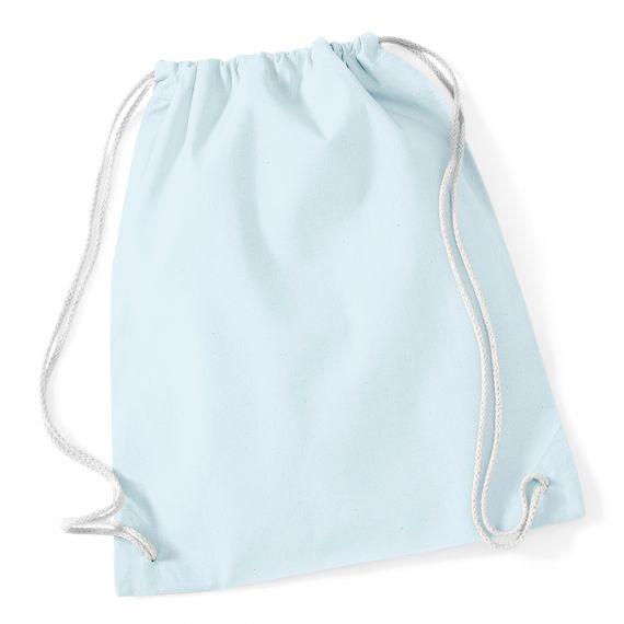 light blue custom gym bag