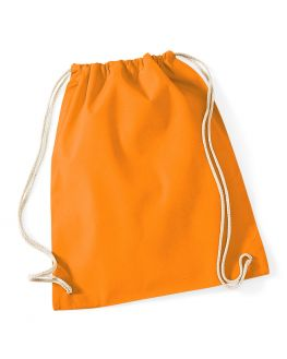 orange custom gym bag