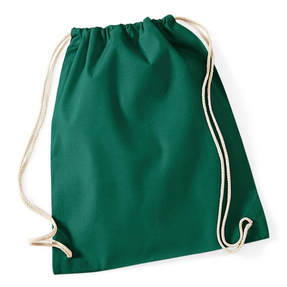 kelly green personalized cotton backpack