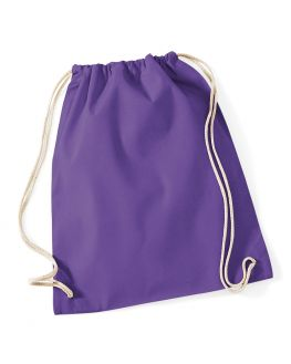 purple personalized gym bag