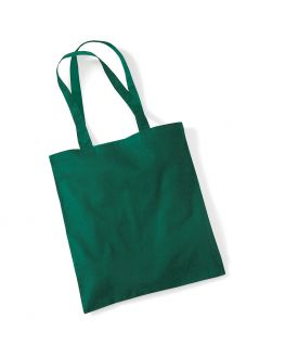 bottle green tote bag