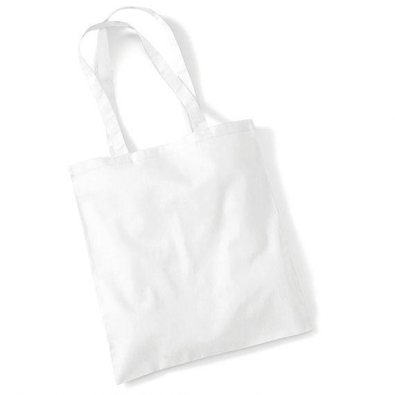 white blank tote bag