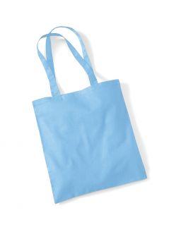 sky blue tote bag