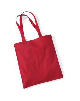 red blank tote bag