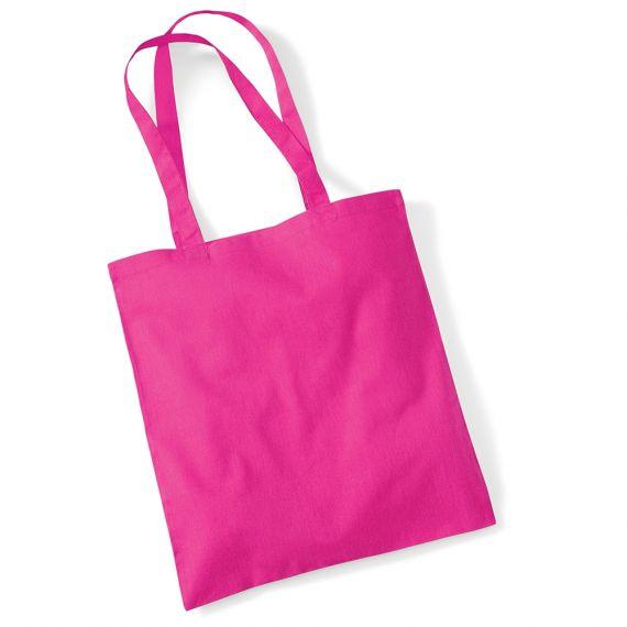 pink blank tote bag