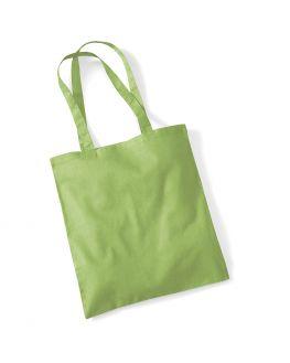 kiwi green tote bag