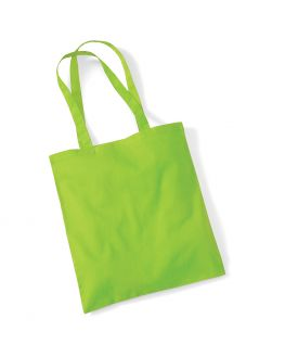blank green tote bag