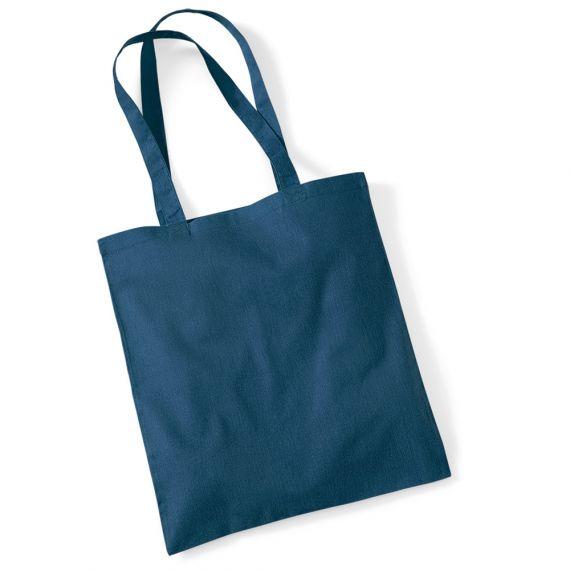 blank navy tote bag