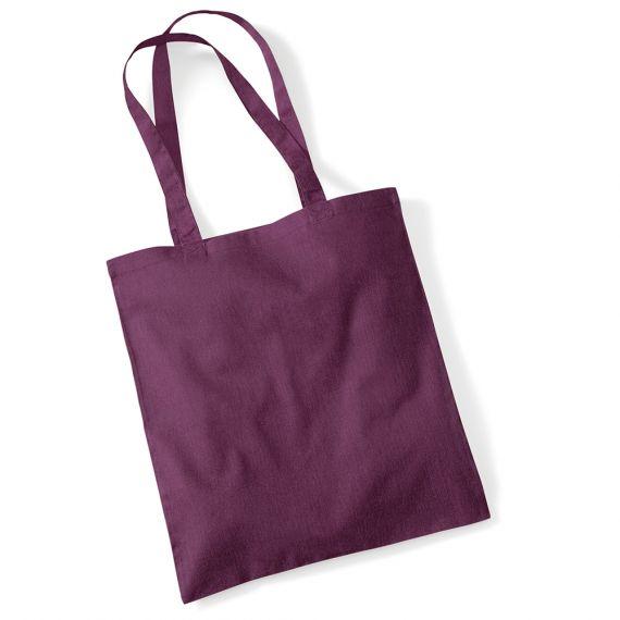 blank purple tote bag