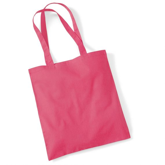 dark pink tote bag