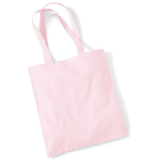 pastel pink tote bag