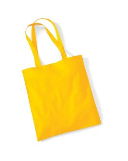 blank yellow tote bag