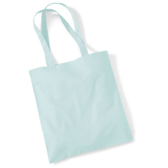 pastel green tote bag