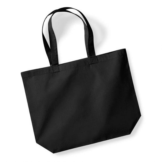 black blank shopping bag