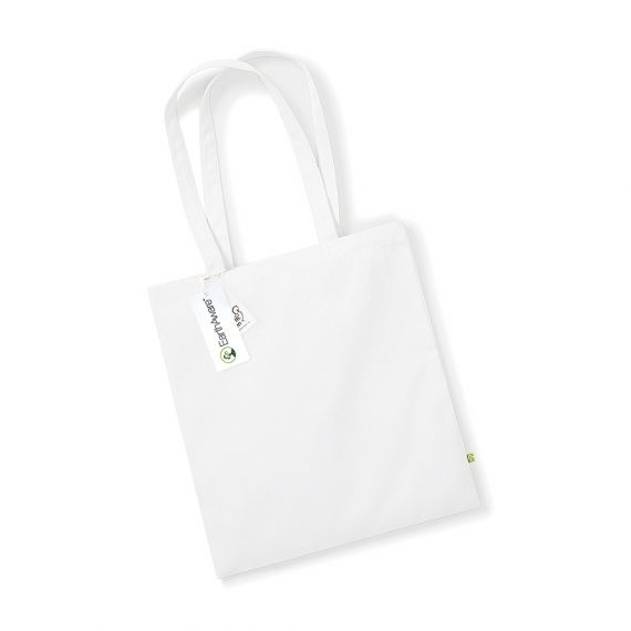 white organic tote bag