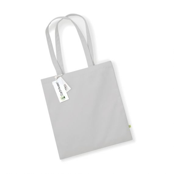 light grey organic tote bag