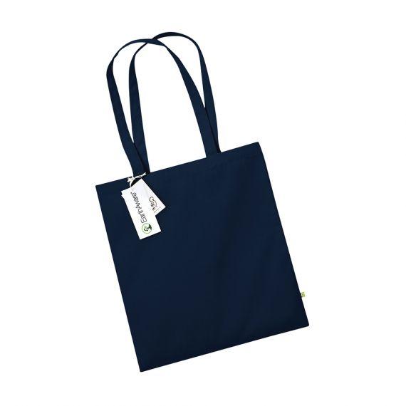 navy organic tote bag