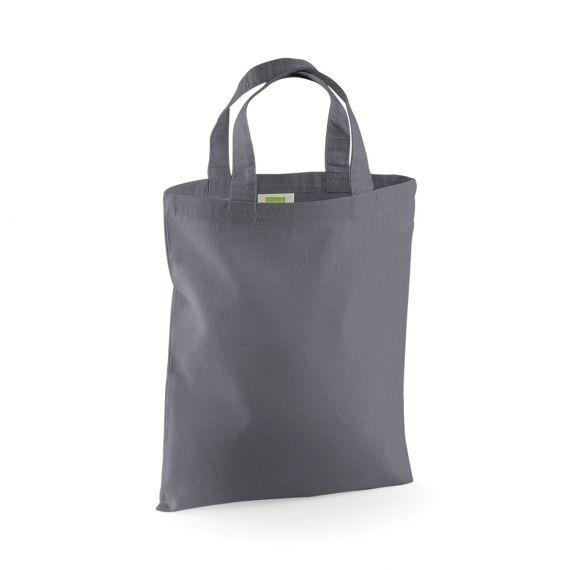 grey blank small tote bag