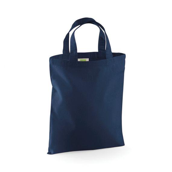 navy blank small tote bag