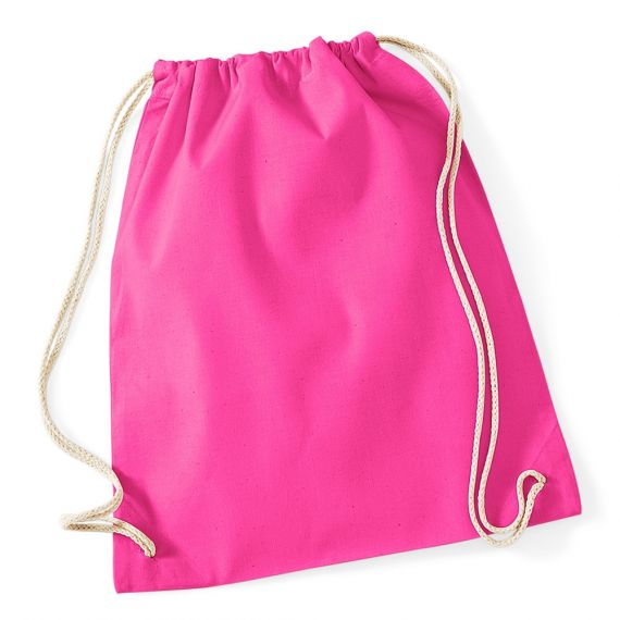 hot pink cotton backpack