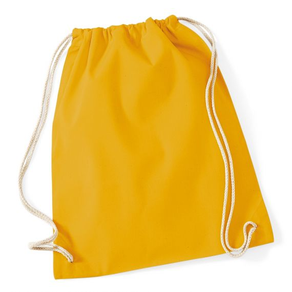 mustard cotton backpack