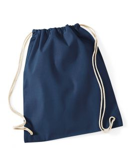 navy blank cotton backpack