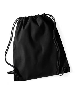 black blank cotton backpack