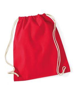 red blank gym bag