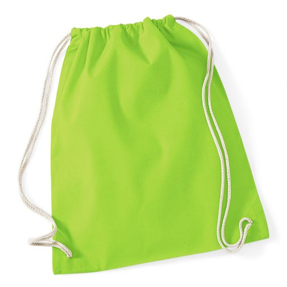 apple green blank cotton backpack