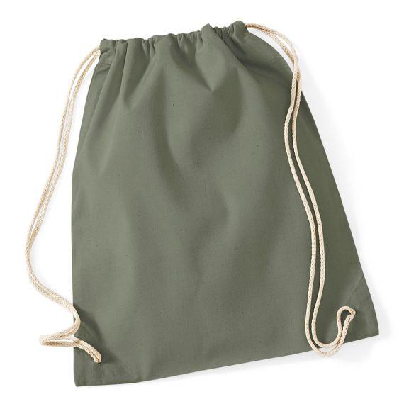 khaki blank cotton backpack