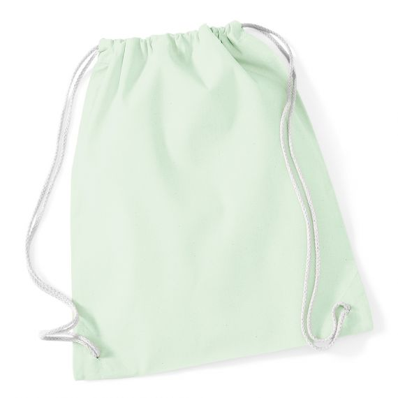 pastel green blank cotton backpack