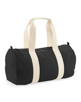 blank black barrel bag