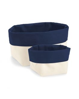 navy blank storage basket