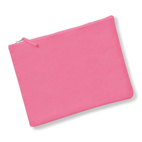 pink blank zip pouch